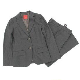 【中古】◆AMACA アマカ パンツスーツ サイズ38◆ grey /グレー/日本製/ウール100%/レディース/上下セット/秋/冬