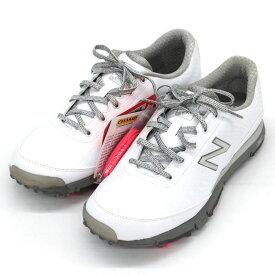 【中古】未使用品◆new balance ニューバランス ゴルフシューズ NBGW1004 サイズ9.5◆ white /白/ホワイト/スニーカー/防水/レディース/靴