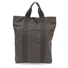 【中古】◆HERMES エルメス エールライン カバス トートバッグ◆ grey /グレー/ハンド/フランス製/メンズ/鞄