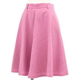 【中古】良好◆Apuweiser-riche アプワイザーリッシェ 膝丈 フレアースカート サイズ2◆ pink /ピンク/レディース/ボトムス
