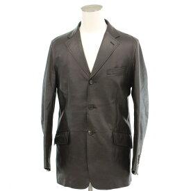 【中古】良好◆Paul Smith collection ポールスミス レザージャケット Lサイズ◆ brown /茶/ブラウン/テーラード/上着/羊革/本革/メンズ/アウター