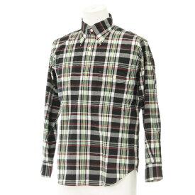 【中古】★EVISU YAMANE ボタンダウン チェックシャツ サイズ38 良好★  black /黒/ブラック/エヴィスヤマネ/長袖/M相当