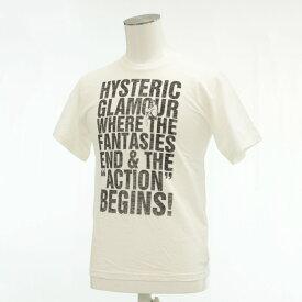 【中古】未使用品◆HYSTERIC GLAMOUR ヒステリックグラマー 半袖Tシャツ XSサイズ◆ white/ホワイト/白/タグ付/日本製/英字/メンズ/トップス