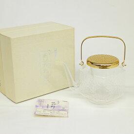 【中古】◆HARIO ハリオ 冷酒器 角地炉利 IDK-2 gold /ゴールド 和食器