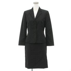 【中古】良好◆ラルフローレン スカートスーツ サイズ9◆ black/黒/ブラック/日本製/ウール100%/RALPH LAUREN/レディース/上下セット