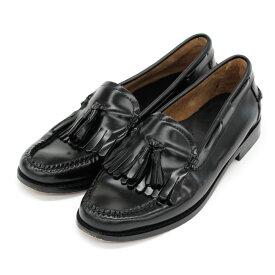【中古】◆G H Bass (Bass) ジーエイチバス タッセルローファー サイズ38.5◆ black /黒/ブラック/レザー/Weejuns/モカシン/レディース/靴