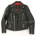 【中古】◆ACDC ダブルライダースジャケット サイズ36◆ black/黒/ブラック/本革/レザー/メンズ/アウター