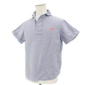 【中古】良好◆DANTON ダントン 半袖 プルオーバーシャツ サイズ40◆ ブルー/blue/メンズ/トップス/日本製/コットン100%/1B/ポケット