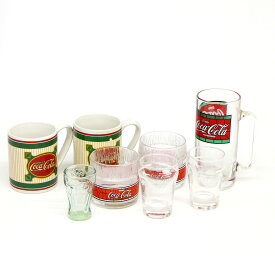 ジャンク品◆Coca-Cola コカ・コーラ グラス マグカップ 小物 雑貨 グッズ8点 まとめ セット コップ タンブラー◆食器 置物 インテリア【中古】