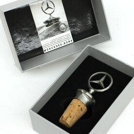 【中古】未使用品◆Mercedes Benz メルセデスベンツ ワインストッパー 天然コルク ステンレススティール クラシック コレクション 替え栓 ◆雑貨