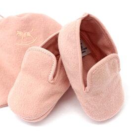 良好◆HERMES エルメス ベビーシューズ◆ pink /ピンク/ファースト靴/ウール/アンゴラ/新生児/赤ちゃん用/フランス製/キッズ【中古】
