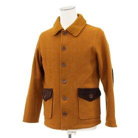 ◆Jackman ジャックマン ウールジャケット Mサイズ◆ brown /茶/ブラウン/レザーパッチ/USA製/メンズ/アウター【中古】