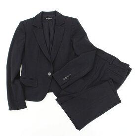 ◆BERARDI ベラルディ シングルスーツ サイズ2◆ navy /紺/ネイビー/ストレッチ生地/肩パッド/レディース/セットアップ【中古】