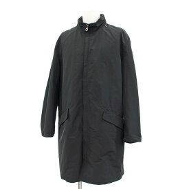 ◆Salvatore Ferragamo フェラガモ フード付きナイロンコート サイズ48◆ black /黒/ブラック/ジップアップ/メンズ/アウター【中古】