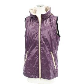 ◆DUVETICA デュベティカ 薄手ダウンベスト サイズ42◆ purple /紫/パープル/フード付き/ジップアップ/レディース/アウター【中古】