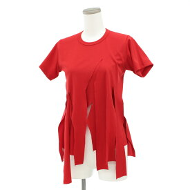 ◆COMME des GARCONS コムデギャルソン 半袖デザインカットソー 小さいサイズXS◆ red /赤/レッド/Tシャツ/レディース/トップス【中古】