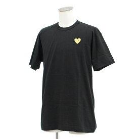 新品同様◆PLAY COMME des GARCONS コムデギャルソン 半袖Tシャツ XLサイズ◆ black /黒/ブラック/ゴールドハート/メンズ/トップス【中古】
