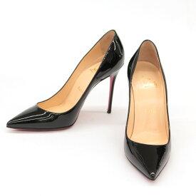 ◆Christian Louboutin クリスチャンルブタン ポインテッドトゥパンプス サイズ37◆ black /黒/ブラック/ピンヒール/レディース/靴【中古】
