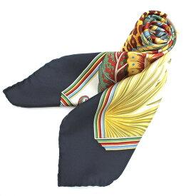◆Salvatore Ferragamo サルヴァトーレ フェラガモ シルク100% 豹柄 スカーフ◆ マルチカラー/イタリア製/レディース/服飾小物【中古】