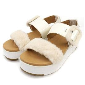 良好◆UGG アグ ストラップベルト ファーサンダル 1099815 サイズ22◆ white /白/ホワイト/フラットソール/春秋/レディース/シューズ/靴【中古】