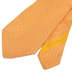 ◆Salvatore Ferragamo フェラガモ シルク100% ネクタイ◆ orange /オレンジ/イタリア製/スーツ/ビジネス/メンズ/男性用/服飾小物【中古】