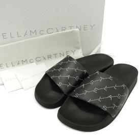 ◆Stella McCartney ステラマッカートニー シャワーサンダル サイズ35(22-23相当)◆black/黒/ブラック/フラット/レディース/シューズ/靴【中古】