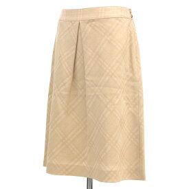 ◆BURBERRY バーバリー ロンドン チェック柄スカート サイズ40◆ beige /ベージュ/日本製/ひざ丈/レディース/ボトムス【中古】