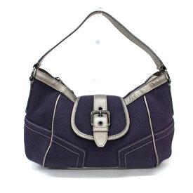◆BURBERRY BLUE LABEL バーバリーブルーレーベル ワンショルダーバッグ◆ purple /紫/パープル/コーデュロイ/肩掛け/日本製/レディース/鞄【中古】