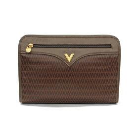 ◆MARIO VALENTINO マリオヴァレンティノ ヴィンテージ セカンドバッグ◆ brown /茶/ブラウン/PVC/メンズ/鞄【中古】