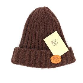 良好◆ILBISONTE イルビゾンテ ニット帽◆ brown /茶/ブラウン/アクリル/ナイロン/帽子/ユニセックス/レディース/メンズ/服飾小物【中古】