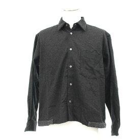 良好◆comme des garons shirt コムデギャルソンシャツ ウールシャツジャケット サイズS◆ グレー/gray/メンズ/アウター/フランス製/ウール【中古】