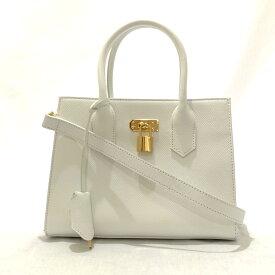 ◆Samantha Thavasa サマンサタバサ 2WAYバッグ◆ white /白/ホワイト/レザー/レディース/鞄/SI1015【中古】