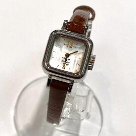 ◆CABANE de zucca カバンドズッカ Y150-0BN0 腕時計◆brown /茶/ブラウン/スクエア/2針/服飾小物/アクセサリー/KA1011【中古】