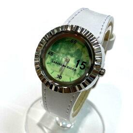 良好◆CABANE de zucca カバンドズッカ 腕時計◆green /緑/グリーン/silver /シルバー/white /ホワイト/3針/服飾小物/アクセサリー/KA1011【中古】