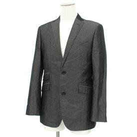 ◆BURBERRY BLACK LABEL バーバリーブラックレーベル 2Bテーラードジャケット Mサイズ◆ gray /グレー/裏地チェック柄/メンズ/アウター【中古】