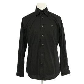 ◆BURBERRY BLACK LABEL バーバリーブラックレーベル コットン混 長袖 BDシャツ サイズ2◆ black /黒/ブラック/チェック/メンズ/トップス【中古】