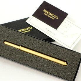 良好◆MIKIMOTO ミキモト パール付 ボールペン 箱付 キャップ式◆ ゴールド 文房具 筆記用具 真珠 【中古】