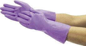 作業用手袋 ショーワグローブ ビニトップ厚手 手袋 No.132 M バイオレット 裏毛付 【メーカー直送】