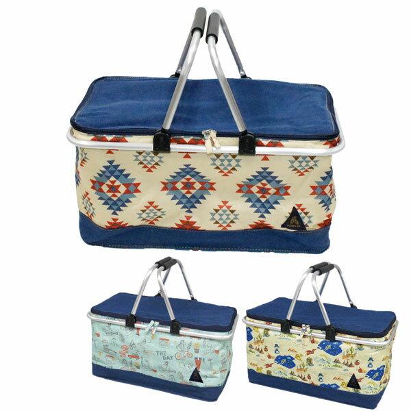 保冷バッグ おしゃれ 折りたたみ かわいい OWLS COOLER BASKETS インディアン トラベラー THE DAY