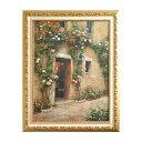 イタリア製 額絵 風景 洋画 アート ゴールド枠 W76×H98×D3.5cm 91668