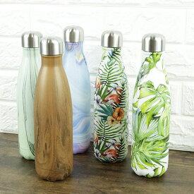 shasta シャスタ ステンレスボトル 直飲み マイボトル 保温 水筒 送料無料 500ml 保温 保冷 リ ボトル フラワー ウッドブラウン パイナップル フラミンゴ 他 全8種