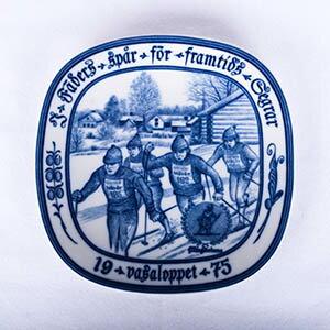 Rorstrand/ロールストランド VASALOPPET PLATE 1975/ヴァーサロペット記念プレート 1975年【Antique/アンティーク】【北欧】