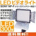 LED300球の高出力LEDビデオライト!!カラーパネル付ソニー製 バッテリー対応LED ライト ビデオライト 撮影 動画