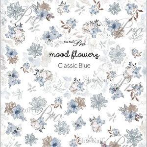 写ネイル Sha Nail mood flowers Classic Blue/ムードフラワーズ クラシックブルー【メール便(ネコポス)対応】【ネイルシール/フラワー/花柄】【c&dネイリスト情報 コスメ&ドラッグNY】