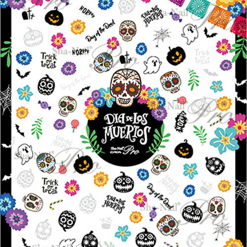 Sha-Nail(写ネイルPRO)Skull&Pumpkin/スカルアンドパンプキン【お取り寄せ】【ネイルアート、ネイルシール、ネイル パーツ】【コスメ&ドラッグNY】0824楽天カード分割【メール便(ネコポス)対応】