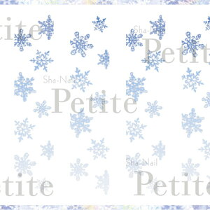 写ネイル Sha Nail 【Petite】Melty Snow Blue/メルティスノー ブルー【メール便(ネコポス)対応】【季節 アート/ネイルシール】 【c&dネイリスト情報 コスメ&ドラッグNY】