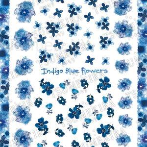 ツメキラ TSUMEKIRA スタンダード indigo blue flowers/インディゴブルーフラワーズ【メール便(ネコポス)対応】【フラワー/ネイルシール/花】 【c&dネイリスト情報 コスメ&ドラッグNY】
