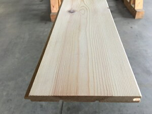 パイン 羽目板兼床板 12ミリ 長さ約1950ミリ Bグレード SETRA社製 レッドパイン 糸面本実加工 無塗装 約1坪 16枚入り 壁材 天井材 腰板 おすすめ DIY 木材 棚 壁 材料