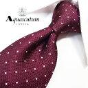 アクアスキュータム ネクタイ(8cm幅) AQA40【Aquascutum・アクアスキュータムネクタイ・ネクタイ ブランド】ラズベ…