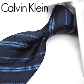 カルバンクライン ネクタイ/ナローネクタイ(7cm幅) CK34 【Calvin Klein・カルバンクラインネクタイ・ネクタイ ブランド】 ネイビー/ブルーグレー 【送料無料】